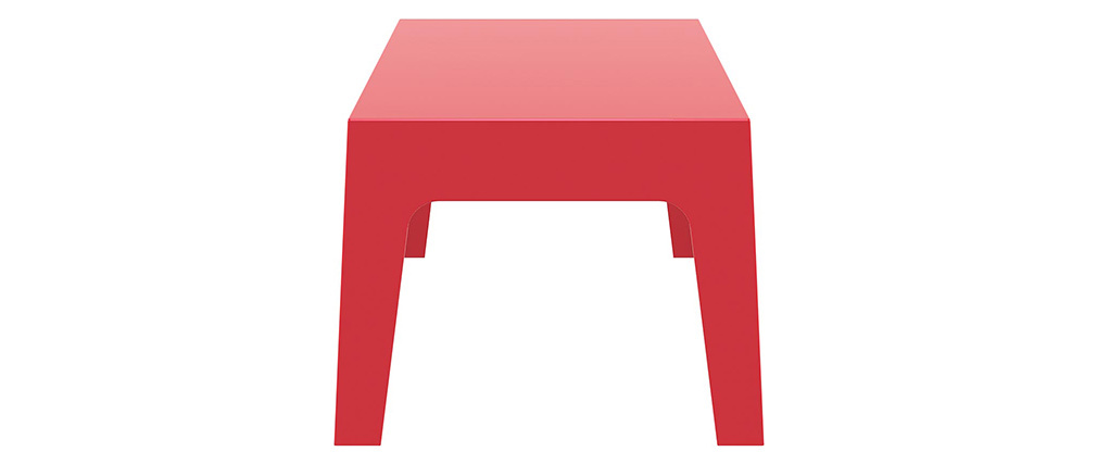Table basse de jardin design rouge LALI