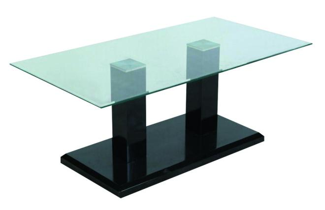 table basse de salon moderne ashley rectangulaire coloris noir ( ce
