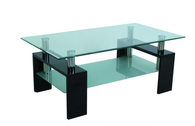 Table basse de salon moderne telma rectangulaire coloris noir miliboo - Table salon rectangulaire ...