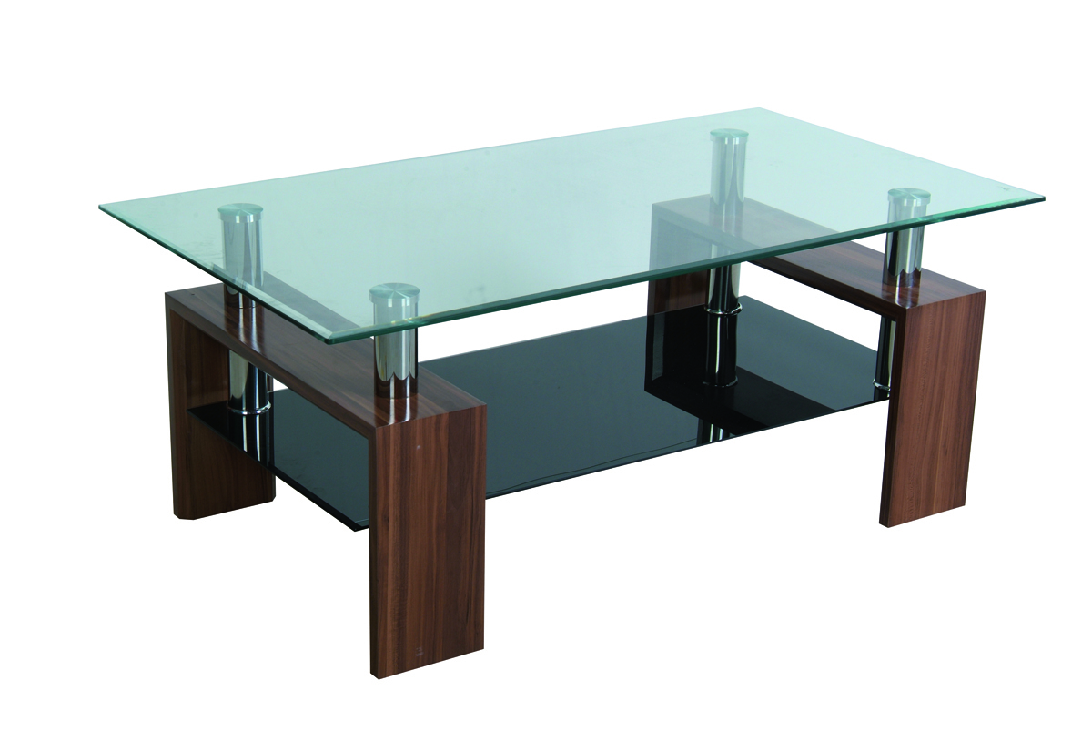 Table basse de salon moderne telma rectangulaire coloris - Table rectangulaire wenge ...
