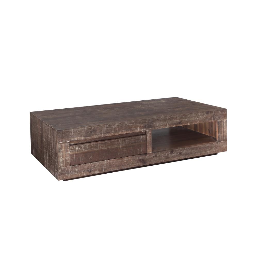 Table basse design acacia teint gris sauvage miliboo for Miliboo table basse