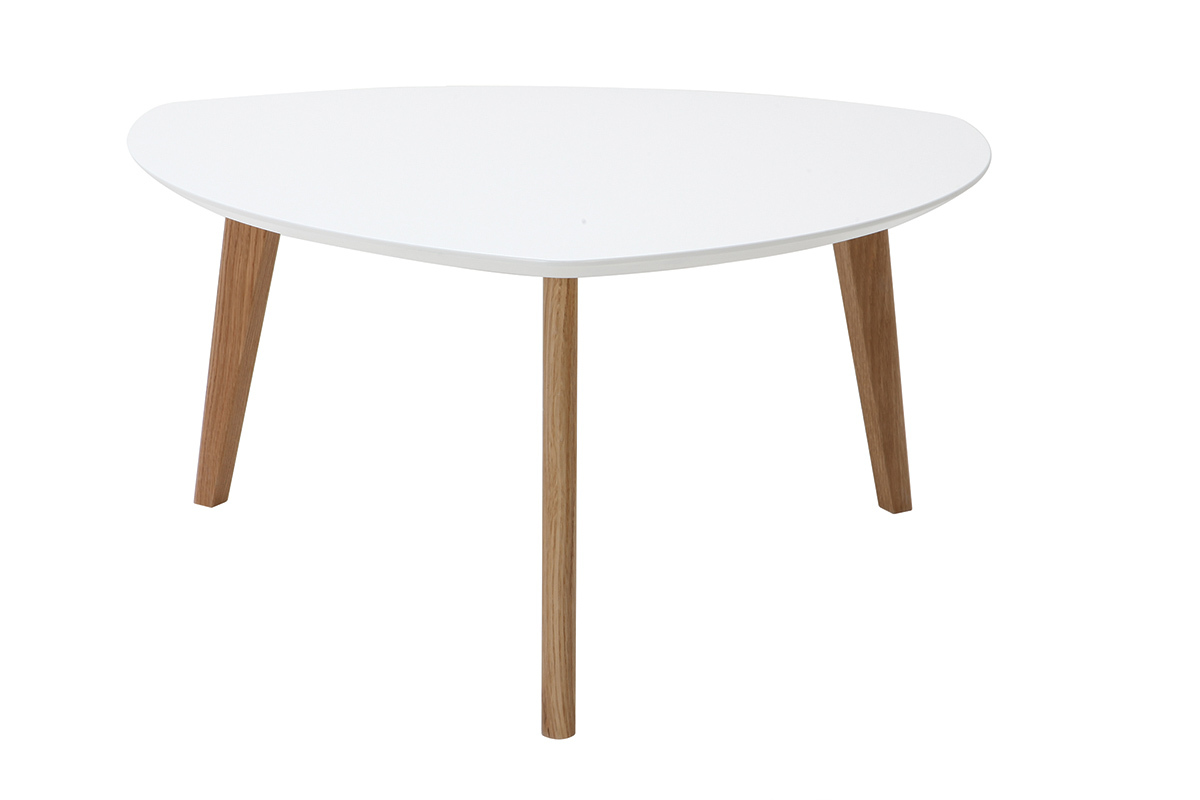 Table basse design blanc 80cm EKKA