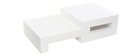 Table basse design blanc brillant LUNA