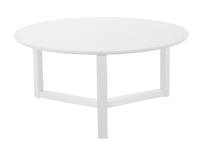 Table basse design blanche 90cm UNITED