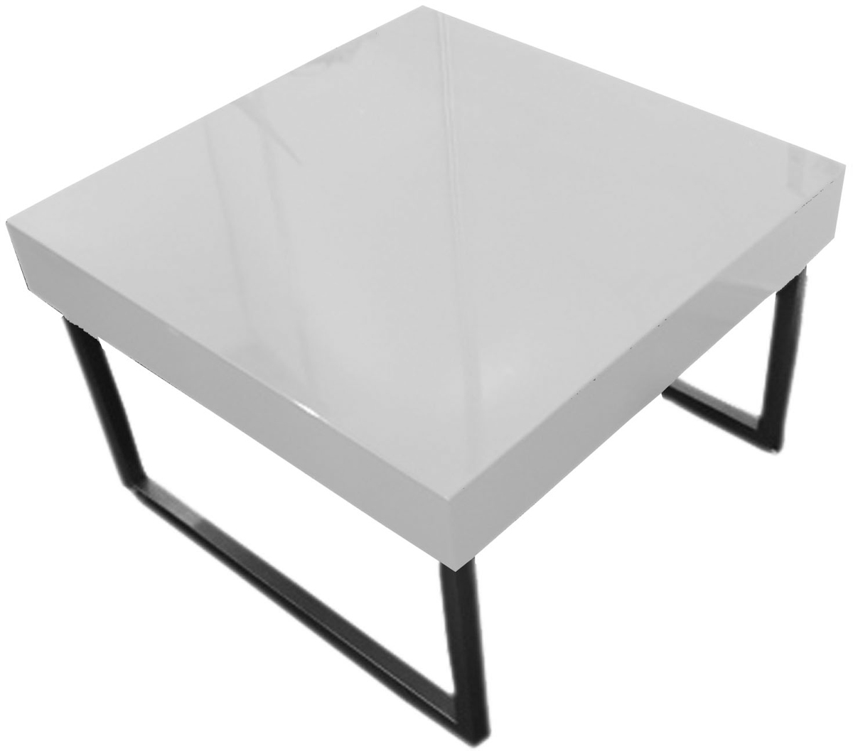 table basse design blanche laqu e carr e morgan miliboo. Black Bedroom Furniture Sets. Home Design Ideas