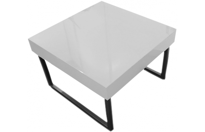 Table basse design blanche laqu e carr e morgan miliboo - Table basse carree laquee ...