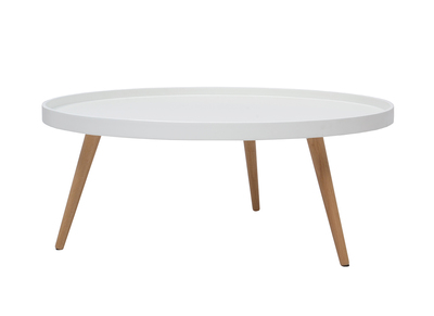 Table basse design blanche RIX