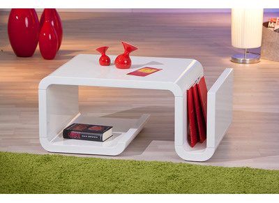 Table basse design blanche WAVY