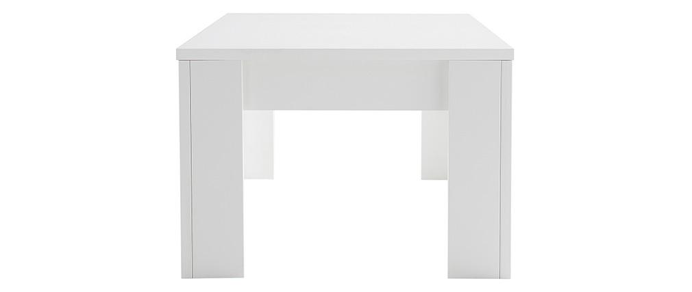 Table basse design bois blanc 122 cm LAND
