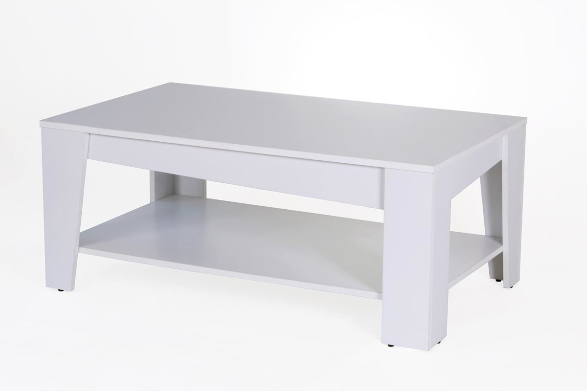 Table basse design bois blanc street miliboo - Table basse bois blanc ...