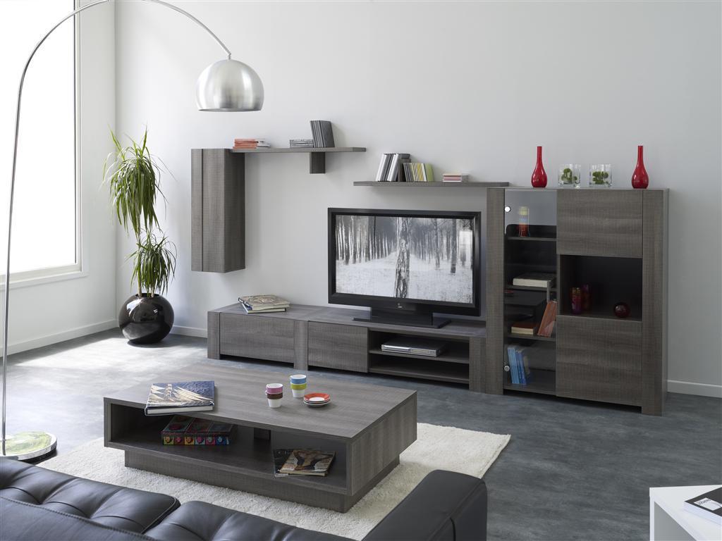 Table basse design bois moca miliboo for Table basse tv