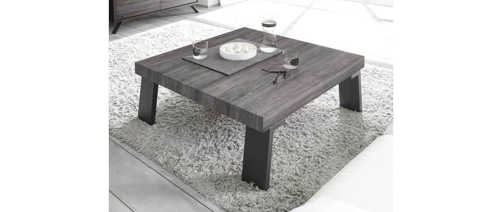Table basse design carr e weng origin miliboo - Table basse design carree ...