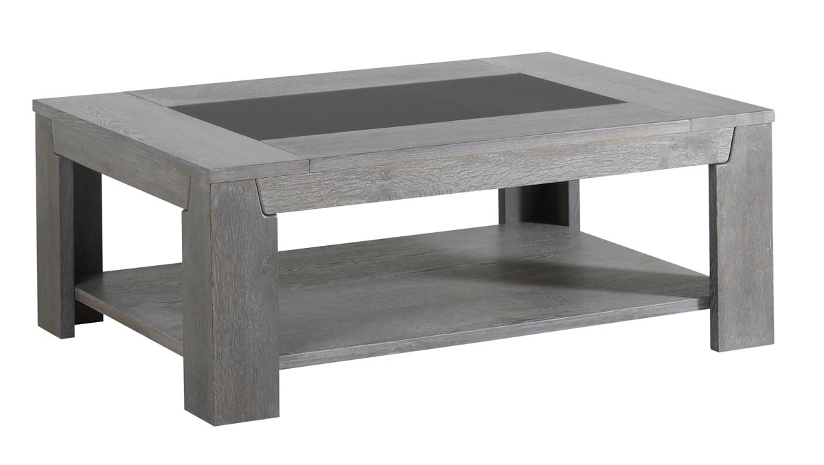 Table basse design ch ne gris willow miliboo - Table basse grise design ...