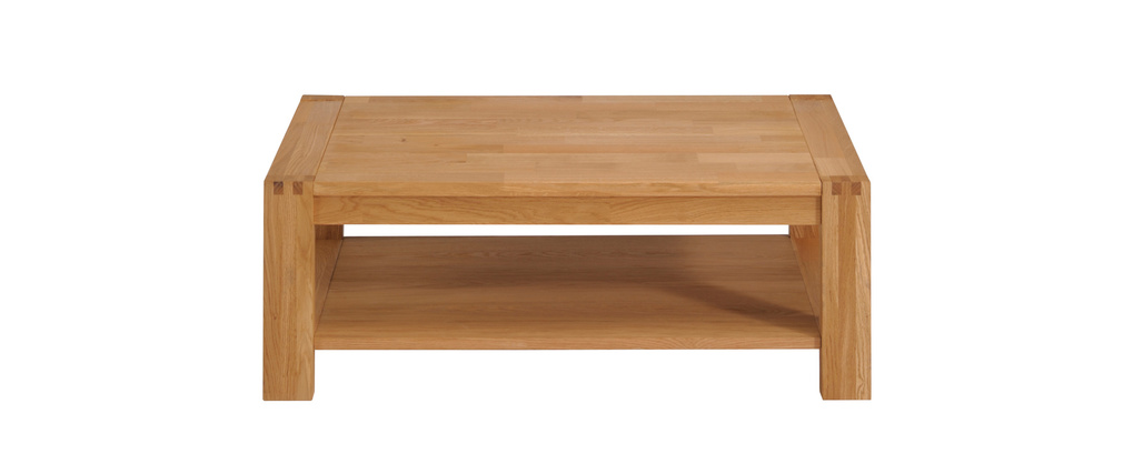 Table basse design ch ne massif huil boscus miliboo - Table basse carree chene massif ...