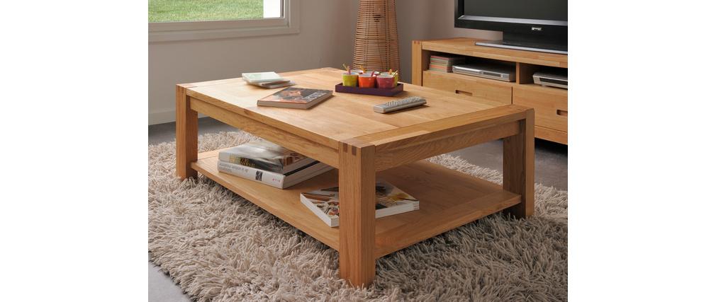 Table basse design chêne massif huilé BOSCUS