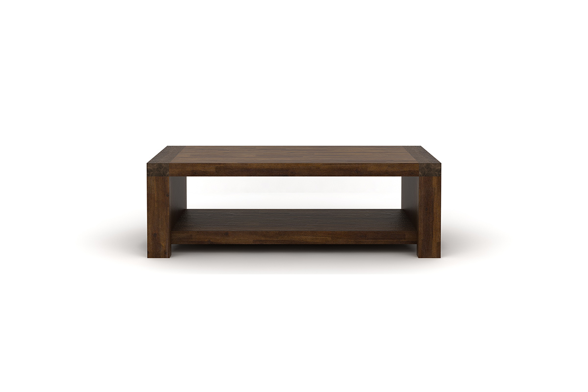 Table basse design en acacia sixties miliboo - Table basse en acacia ...