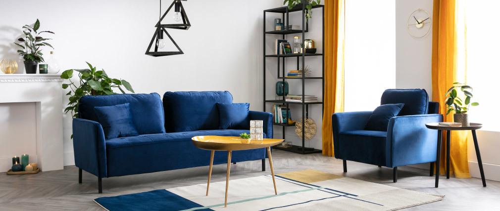 Table basse design en acier laqué vert d