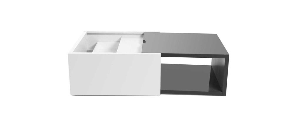 Table basse extensible avec rangement for Table extensible avec rangement