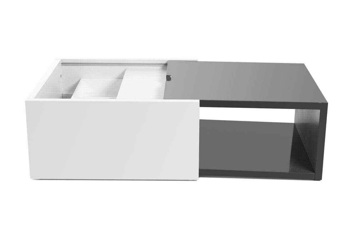 Table basse en bois avec range revues ellinor for Table extensible avec rangement