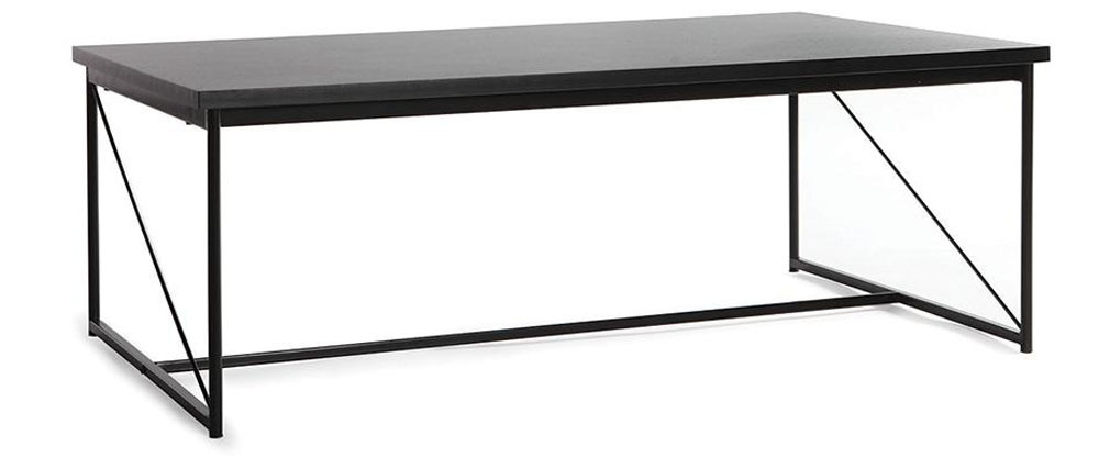Table basse design gris et noir WALT