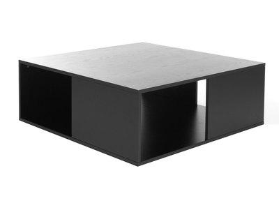 Table basse design grise et noire CUBIK