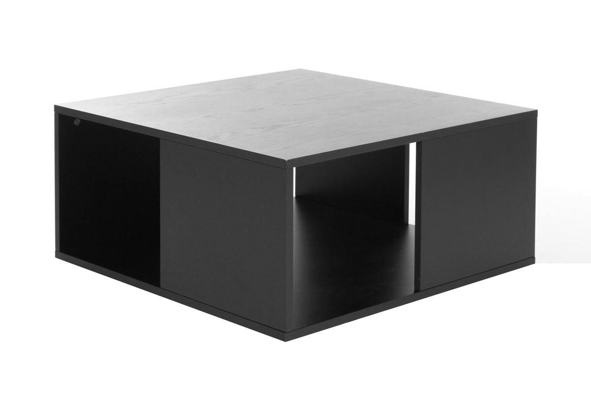 Table basse design grise et noire cubik s miliboo for Miliboo table basse