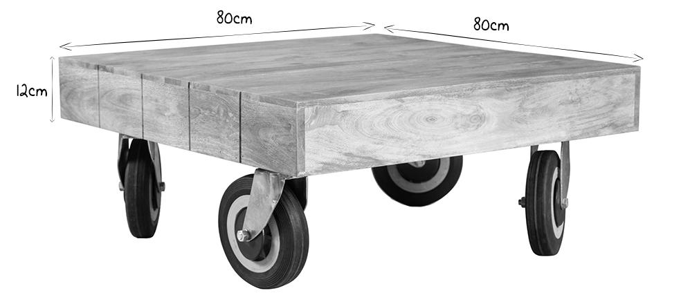 Table Industrielle À Roulettes Carrée Cm Atelier Basse Design 80x80 b6yvf7Yg