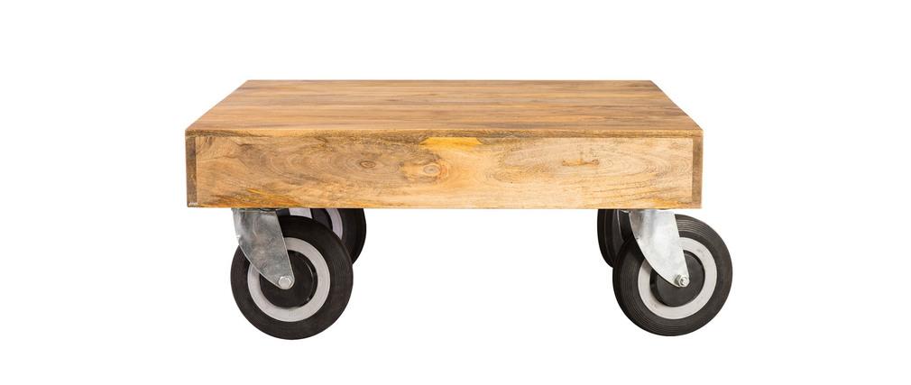 Table basse design industrielle carrée à...