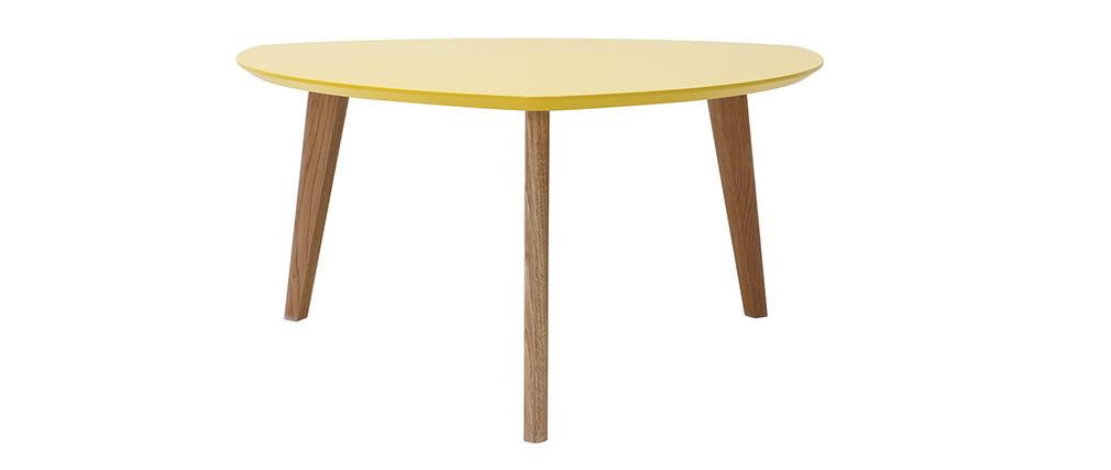 Table basse design jaune 80cm EKKA