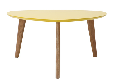 Table basse design jaune 80cm EKKA