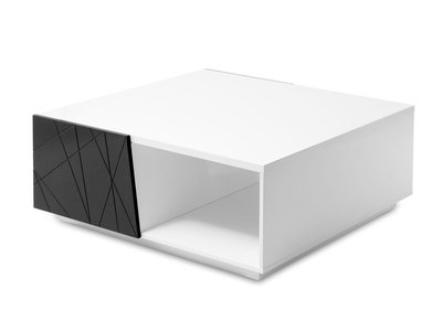 Table basse design nos tables basses carr es rondes pas - Table basse noir et blanc design ...