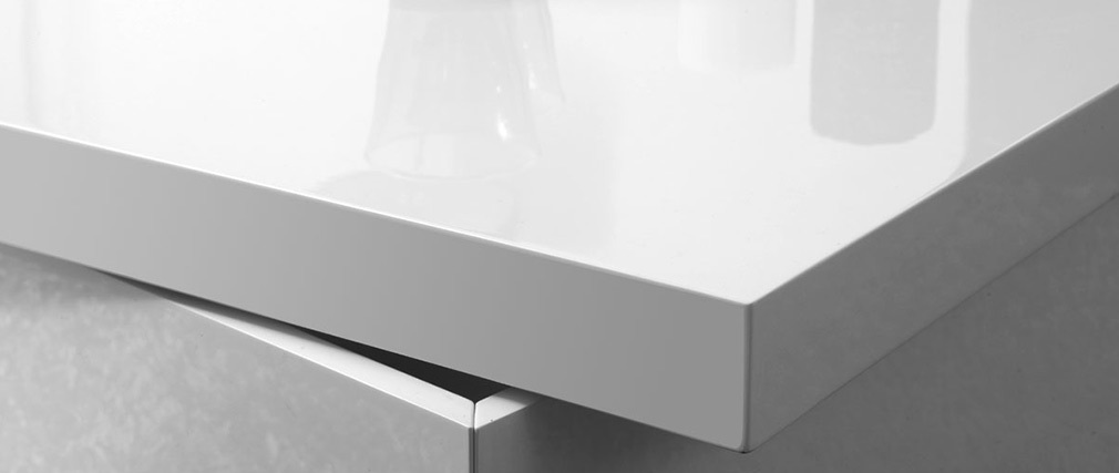 Table basse design laquée blanc JANA
