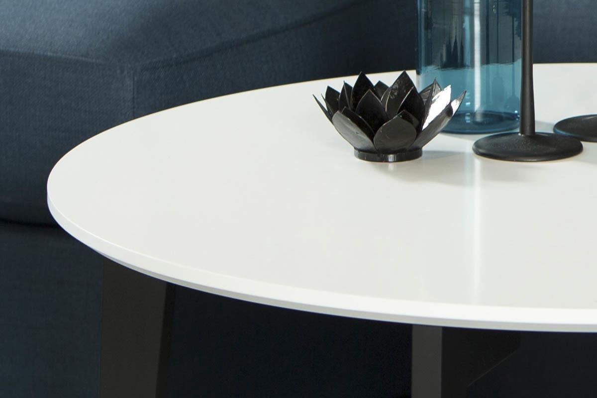 Table basse florida noir et blanc - Table basse blanc et noir ...