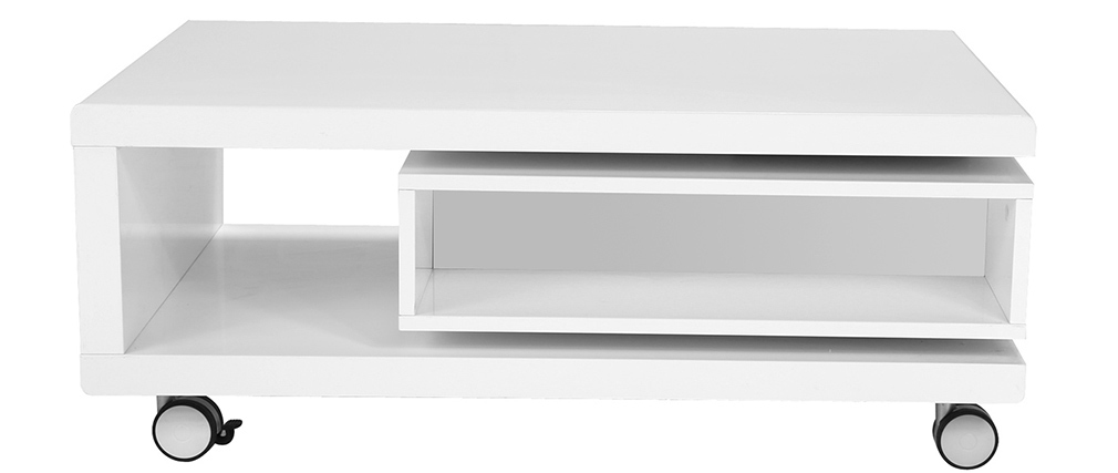 Table basse design laquée blanche LIVO