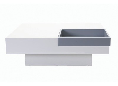 Table basse design nos tables basses carr es rondes pas - Table basse laquee blanche ...