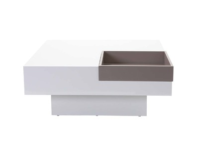 Table basse design nos tables basses carr es rondes pas cher miliboo - Table basse laquee taupe ...