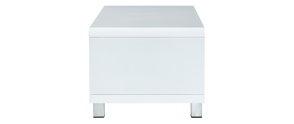 Table basse design laquée blanche ROXY