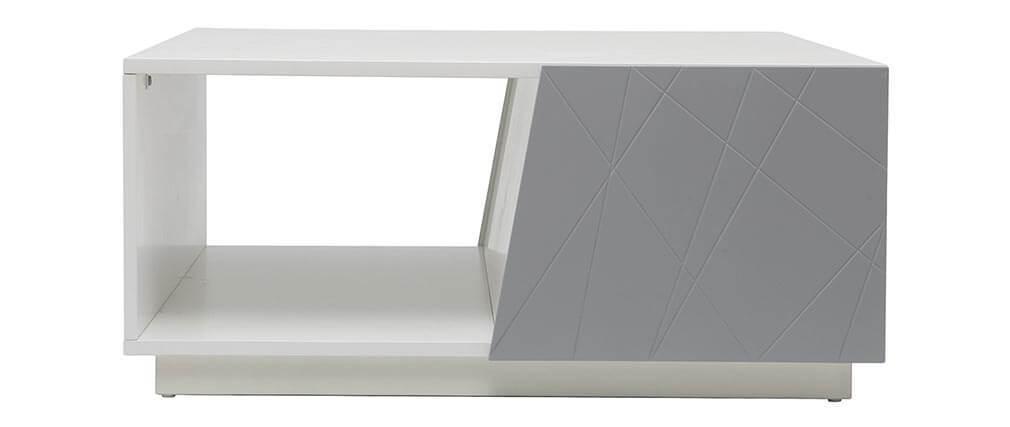 Mat Design Laquée Miliboo Table Basse 90cm Gris Alessia dChsQtxrB