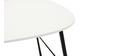 Table basse design métal blanc L60 cm BLOOM