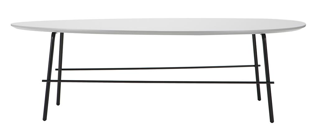 Table basse design métal gris 131 cm BLOOM