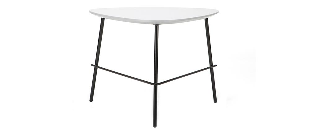 Table basse design métal gris 60cm BLOOM