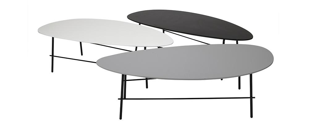 Table basse design métal gris L131 BLOOM