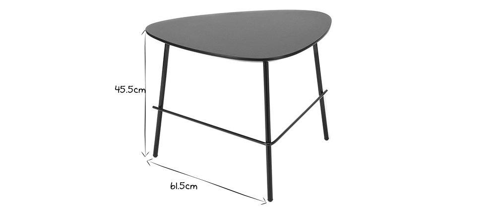 Table basse design métal gris L60 cm BLOOM