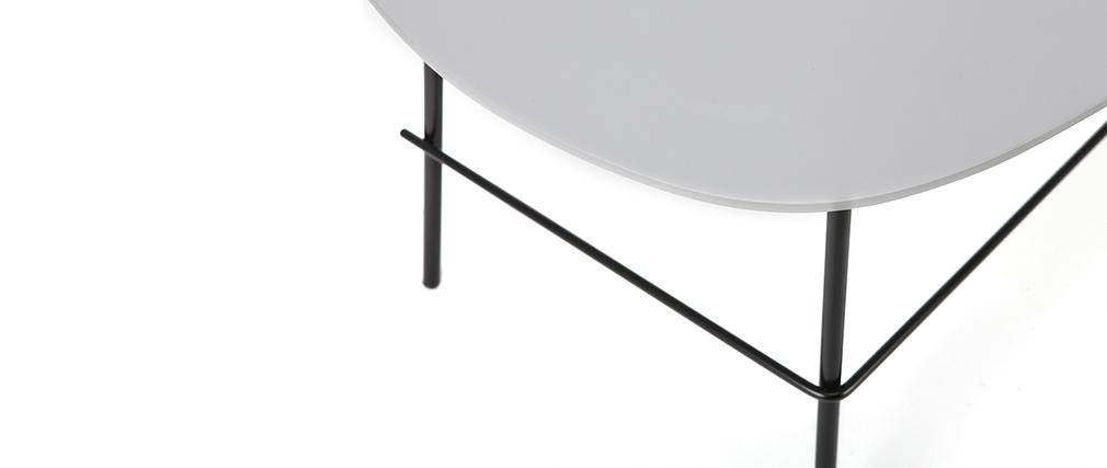 Table basse design métal gris L93 cm BLOOM