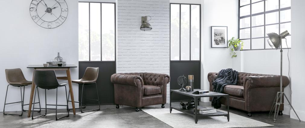 Table basse design métal noir 120 cm FACTORY