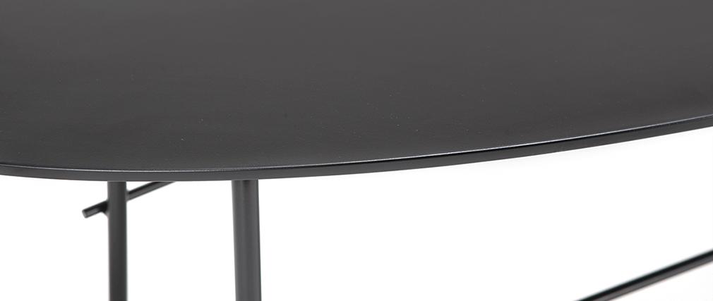 Table basse design métal noir 131 cm BLOOM