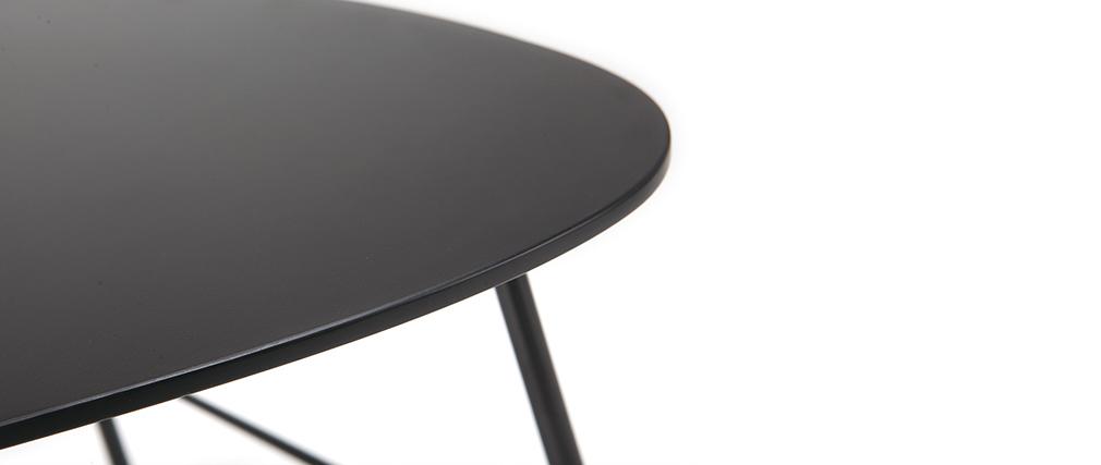 Table basse design métal noir 60cm BLOOM