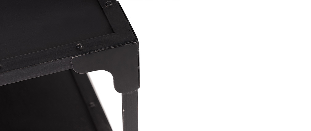 Table basse design métal noir L120 cm FACTORY
