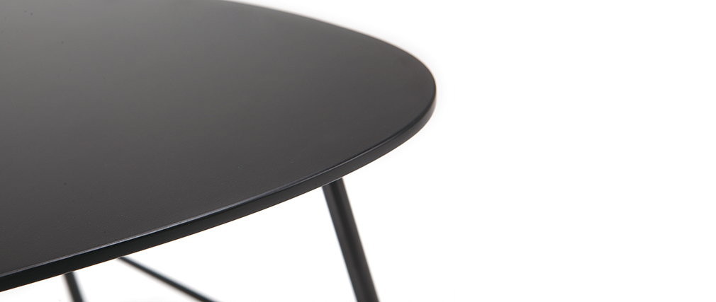 Table basse design métal noir L60 cm BLOOM