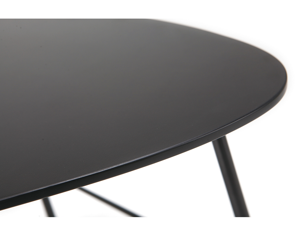 Table Basse Design Metal Noir L60 Cm Bloom Miliboo